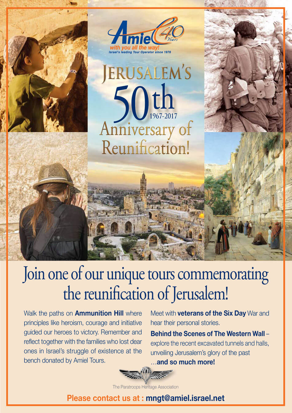 Jerusalem's 50th anniversary of Reunification, May 2017